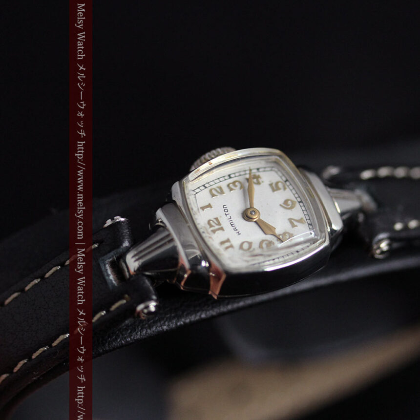 ハミルトン1940年頃の婦人物アンティーク腕時計-W1456-6
