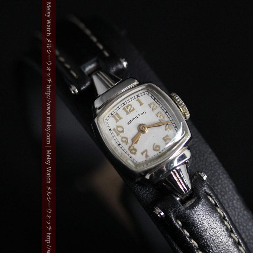 ハミルトン1940年頃の婦人物アンティーク腕時計-W1456-7