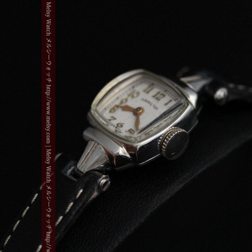 ハミルトン1940年頃の婦人物アンティーク腕時計-W1456-8