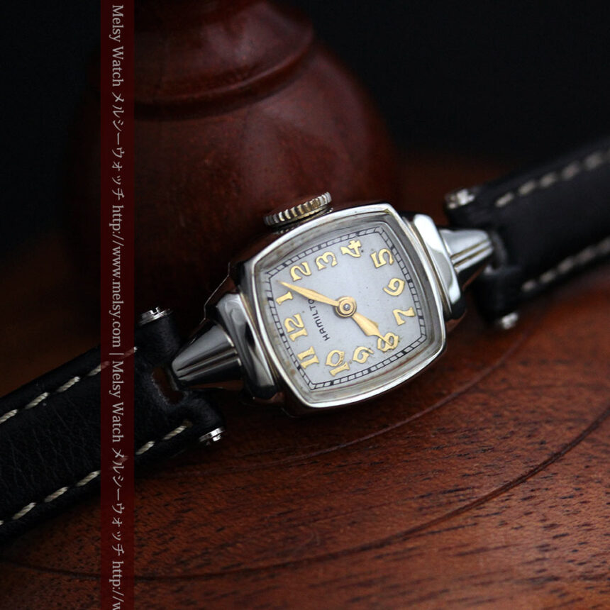 ハミルトン1940年頃の婦人物アンティーク腕時計-W1456-9