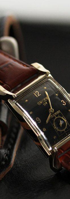 グリュエンの渋さの光るアンティーク腕時計-W1457-1