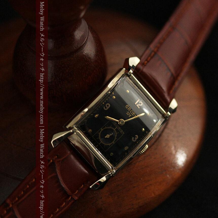グリュエンの渋さの光るアンティーク腕時計-W1457-10