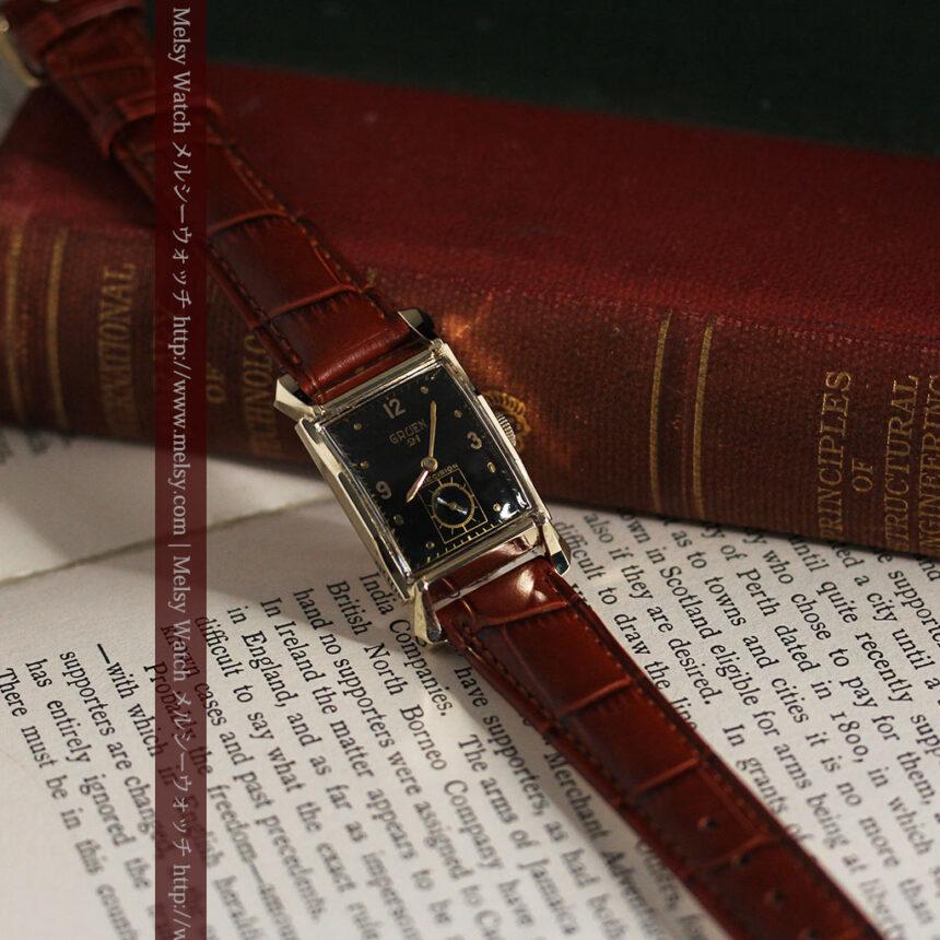 グリュエンの渋さの光るアンティーク腕時計-W1457-11
