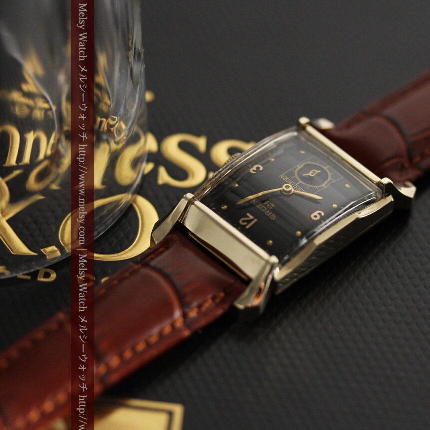 グリュエンの渋さの光るアンティーク腕時計-W1457-2