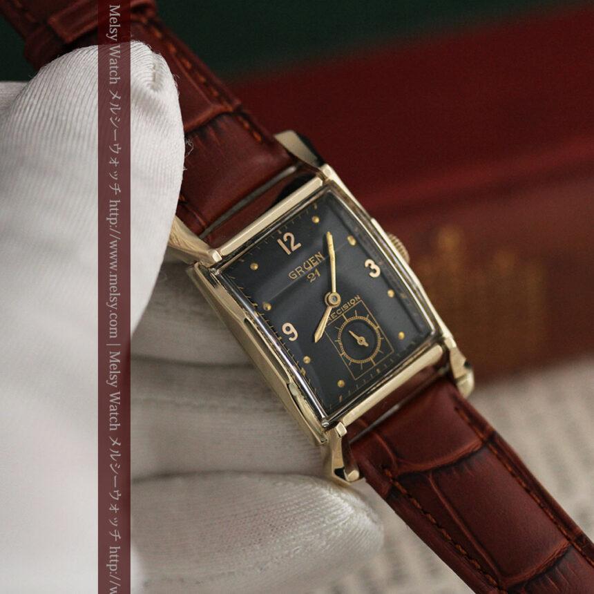 グリュエンの渋さの光るアンティーク腕時計-W1457-4