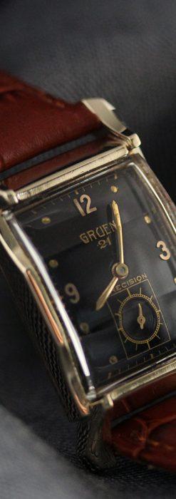 グリュエンの渋さの光るアンティーク腕時計-W1457-5