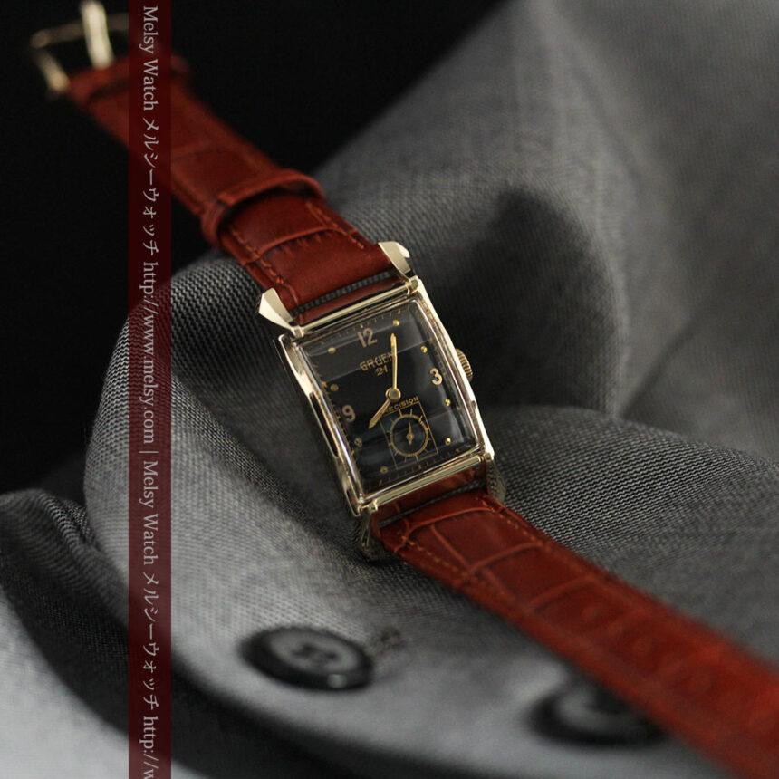 グリュエンの渋さの光るアンティーク腕時計-W1457-6