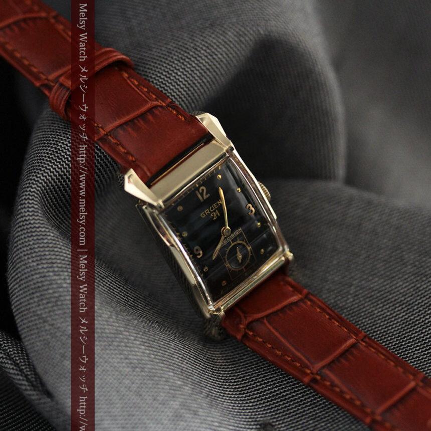 グリュエンの渋さの光るアンティーク腕時計-W1457-7