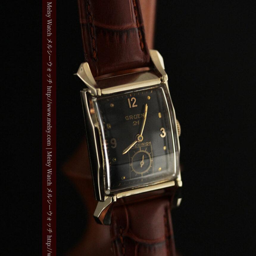 グリュエンの渋さの光るアンティーク腕時計-W1457-8