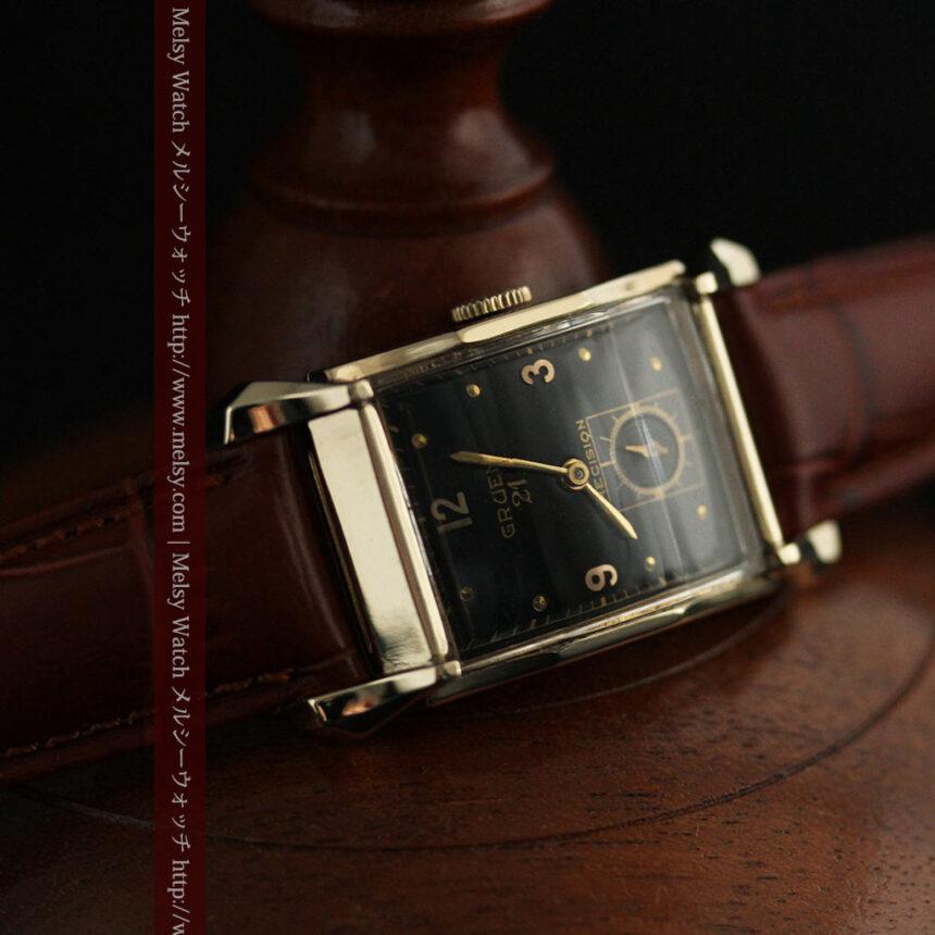 グリュエンの渋さの光るアンティーク腕時計-W1457-9