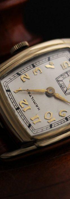 ハミルトンの曲線の綺麗な1940年頃のアンティーク腕時計-W1460-10
