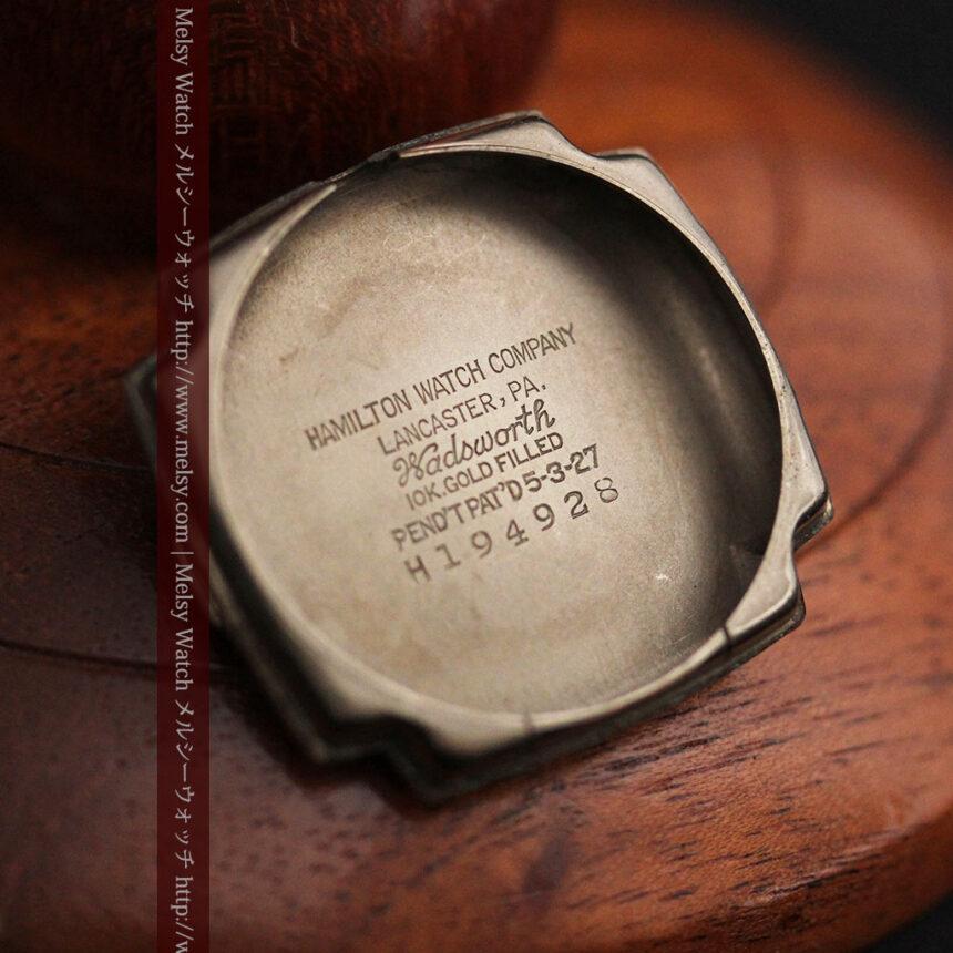 ハミルトンの曲線の綺麗な1940年頃のアンティーク腕時計-W1460-13