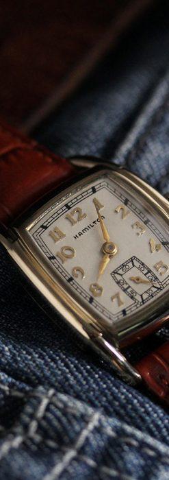 ハミルトンの曲線の綺麗な1940年頃のアンティーク腕時計-W1460-2