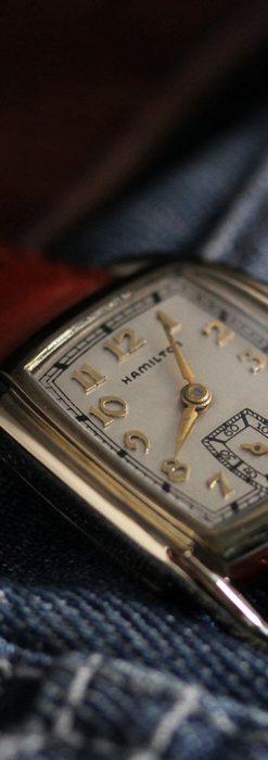 ハミルトンの曲線の綺麗な1940年頃のアンティーク腕時計-W1460-3