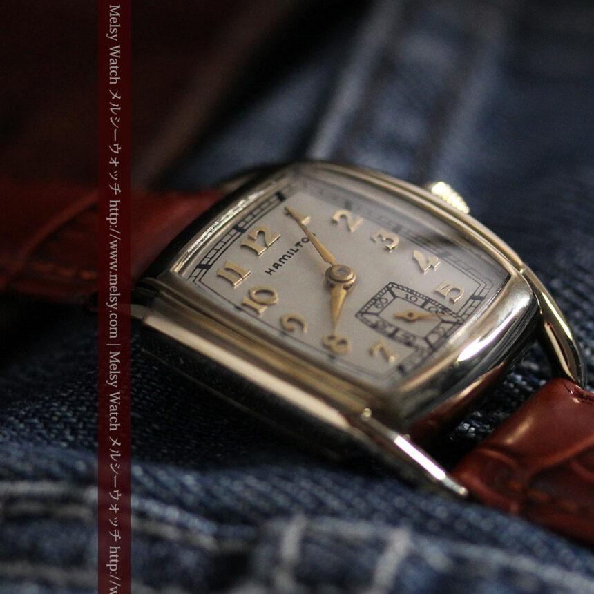 ハミルトンの曲線の綺麗な1940年頃のアンティーク腕時計-W1460-4