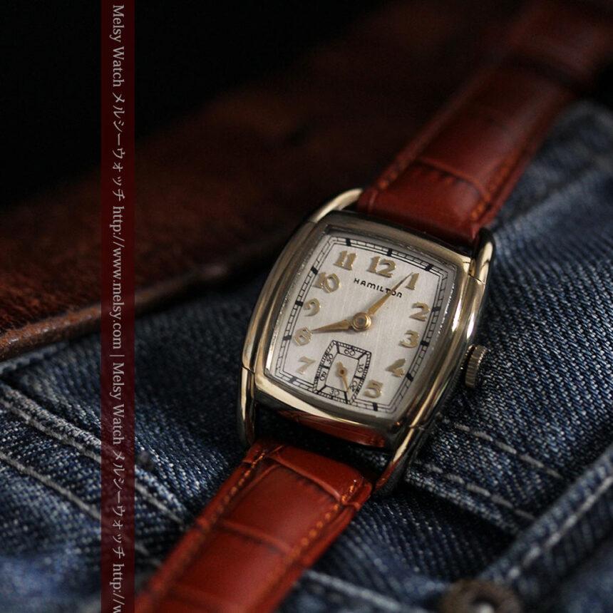 ハミルトンの曲線の綺麗な1940年頃のアンティーク腕時計-W1460-5