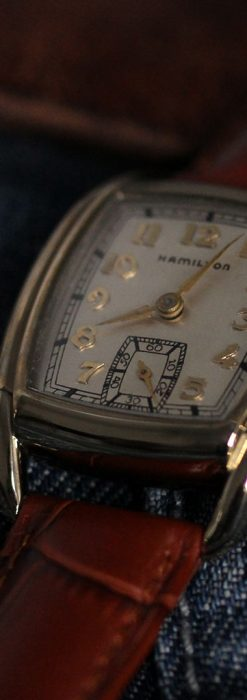 ハミルトンの曲線の綺麗な1940年頃のアンティーク腕時計-W1460-6