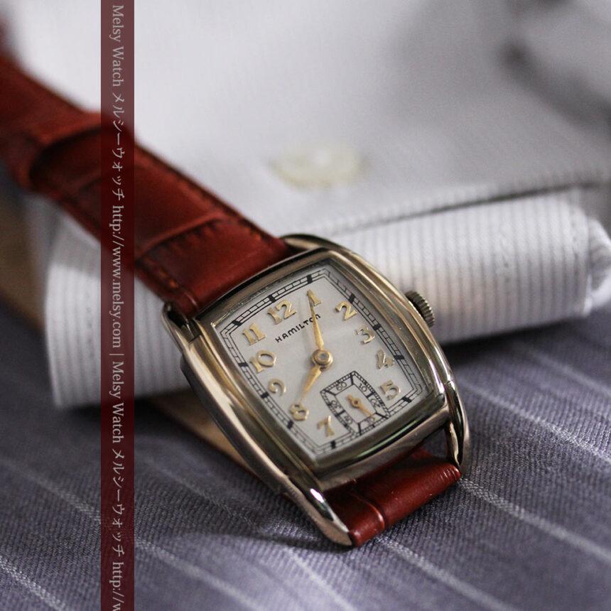 ハミルトンの曲線の綺麗な1940年頃のアンティーク腕時計-W1460-8