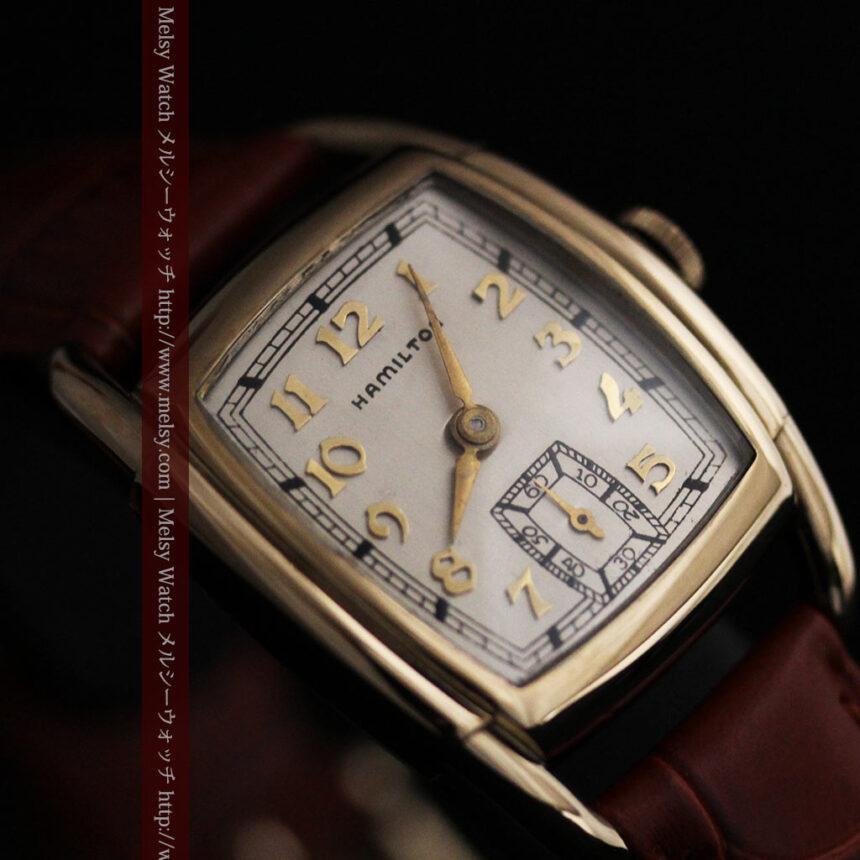 ハミルトンの曲線の綺麗な1940年頃のアンティーク腕時計-W1460-9