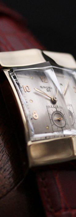 グリュエン騎士の兜のようなアンティーク腕時計-W1461-1