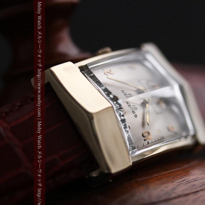 グリュエン騎士の兜のようなアンティーク腕時計-W1461-10