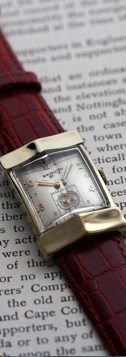 グリュエン騎士の兜のようなアンティーク腕時計-W1461-12