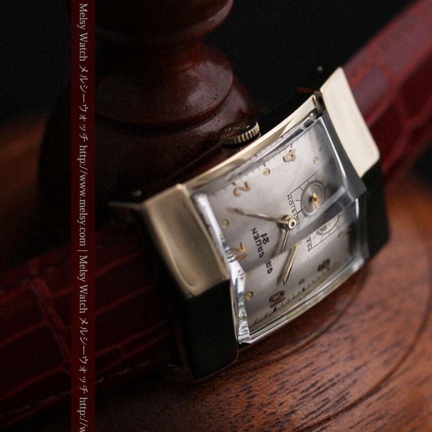 グリュエン騎士の兜のようなアンティーク腕時計-W1461-14