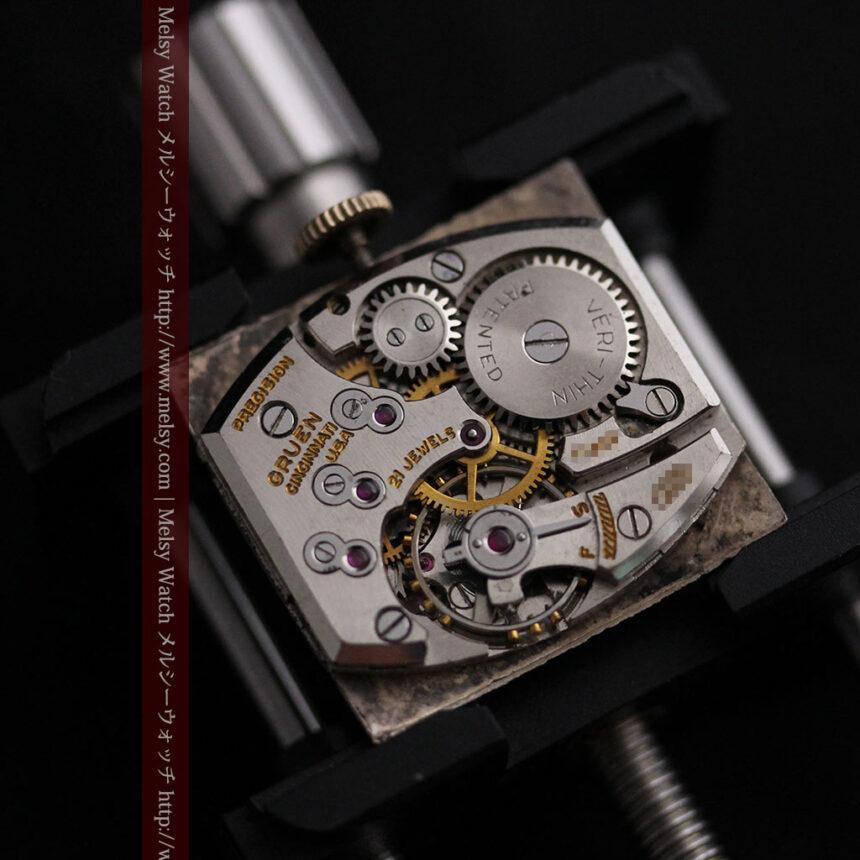 グリュエン騎士の兜のようなアンティーク腕時計-W1461-18