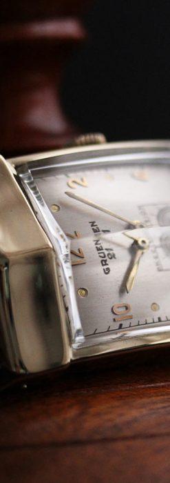 グリュエン騎士の兜のようなアンティーク腕時計-W1461-2
