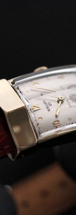 グリュエン騎士の兜のようなアンティーク腕時計-W1461-3