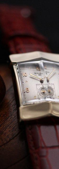 グリュエン騎士の兜のようなアンティーク腕時計-W1461-4