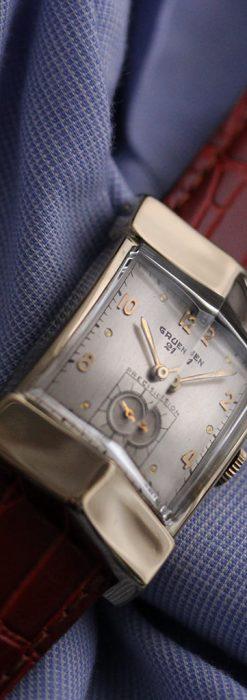 グリュエン騎士の兜のようなアンティーク腕時計-W1461-5