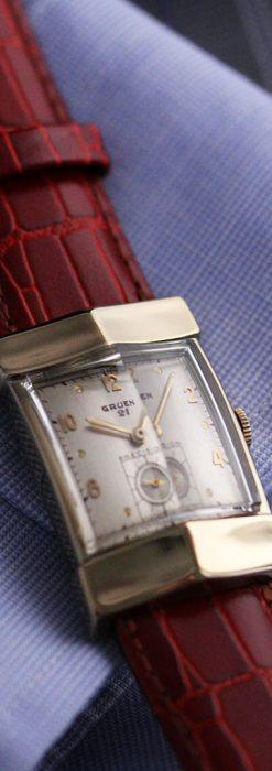 グリュエン騎士の兜のようなアンティーク腕時計-W1461-6