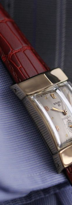 グリュエン騎士の兜のようなアンティーク腕時計-W1461-7