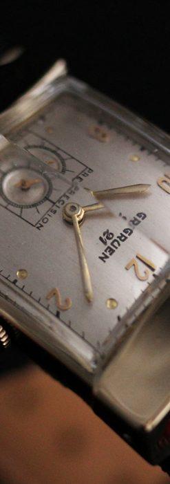 グリュエン騎士の兜のようなアンティーク腕時計-W1461-9