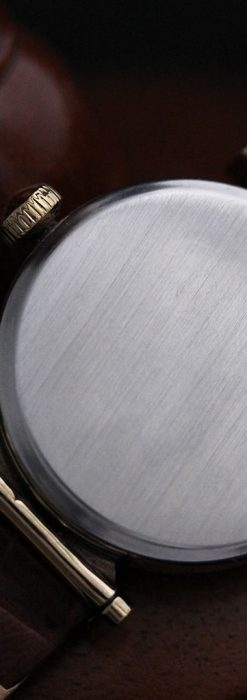 可動ラグを持つエルジンの雰囲気あるアンティーク腕時計-W1462-13