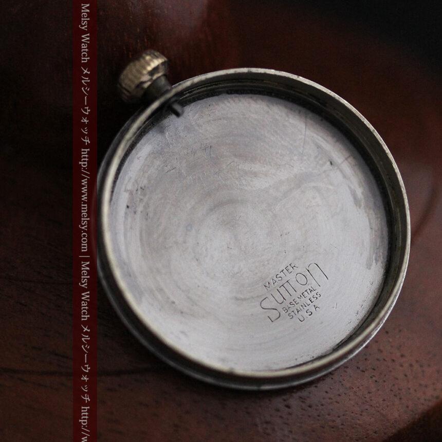 可動ラグを持つエルジンの雰囲気あるアンティーク腕時計-W1462-14