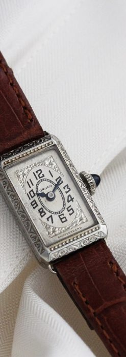 個性の光るグリュエン 女性用アンティーク腕時計【1920年頃】-W1464-1