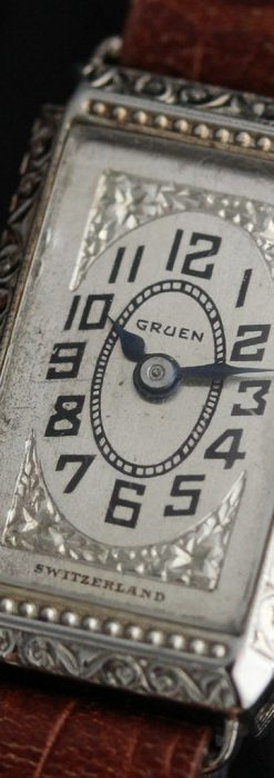 個性の光るグリュエン 女性用アンティーク腕時計【1920年頃】-W1464-10