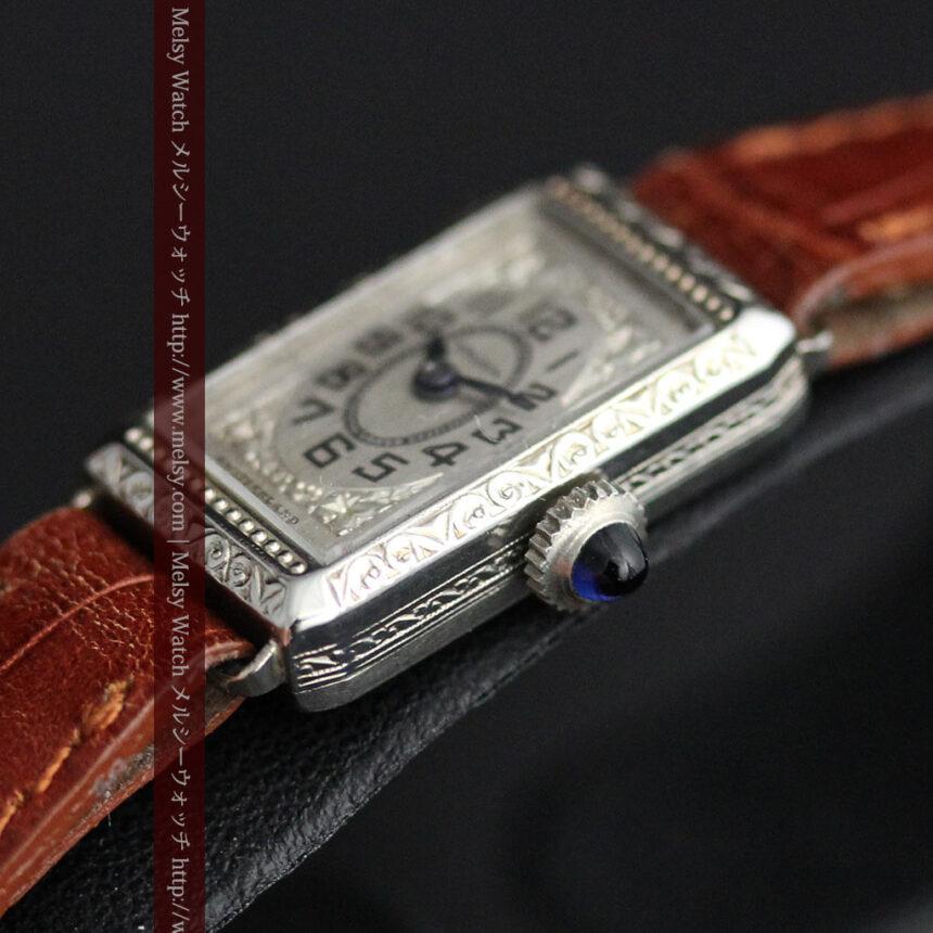 個性の光るグリュエン 女性用アンティーク腕時計【1920年頃】-W1464-12