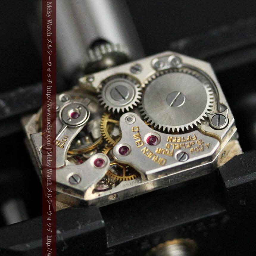 個性の光るグリュエン 女性用アンティーク腕時計【1920年頃】-W1464-15