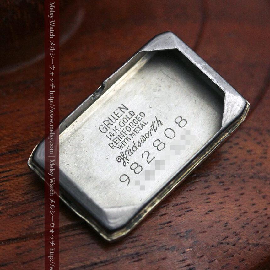 個性の光るグリュエン 女性用アンティーク腕時計【1920年頃】-W1464-16
