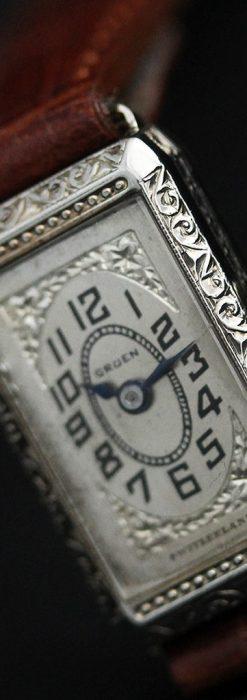 個性の光るグリュエン 女性用アンティーク腕時計【1920年頃】-W1464-6