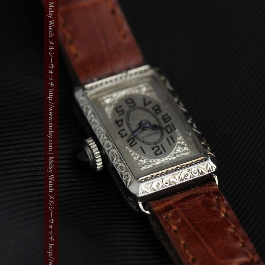 個性の光るグリュエン 女性用アンティーク腕時計【1920年頃】-W1464-8
