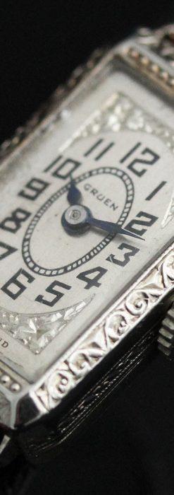 個性の光るグリュエン 女性用アンティーク腕時計【1920年頃】-W1464-9