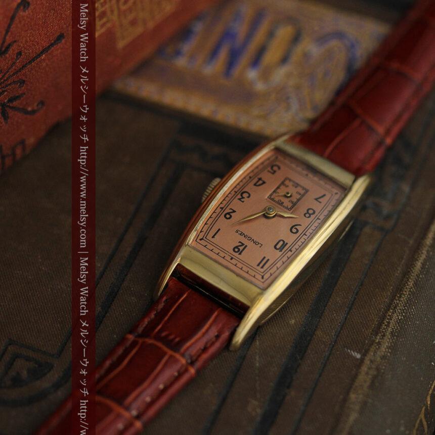 ロンジンのアンティーク腕時計【1939年製】ローズ色-W1465-1