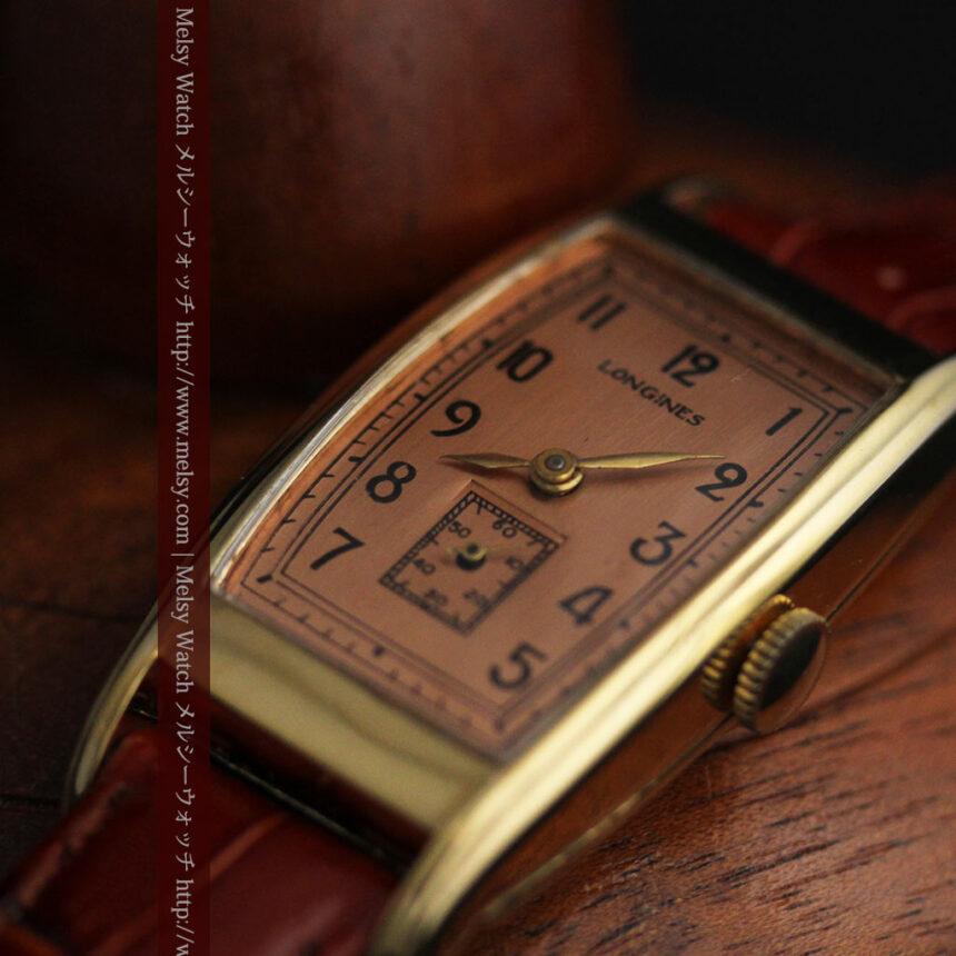ロンジンのアンティーク腕時計【1939年製】ローズ色-W1465-10