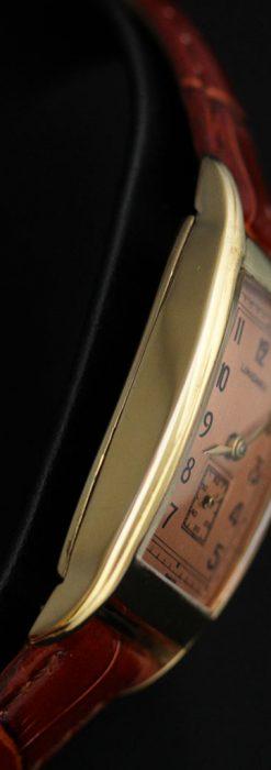 ロンジンのアンティーク腕時計【1939年製】ローズ色-W1465-12