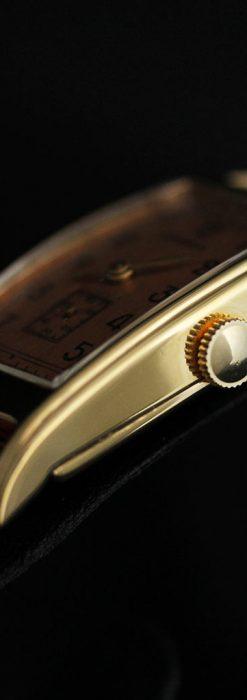 ロンジンのアンティーク腕時計【1939年製】ローズ色-W1465-13