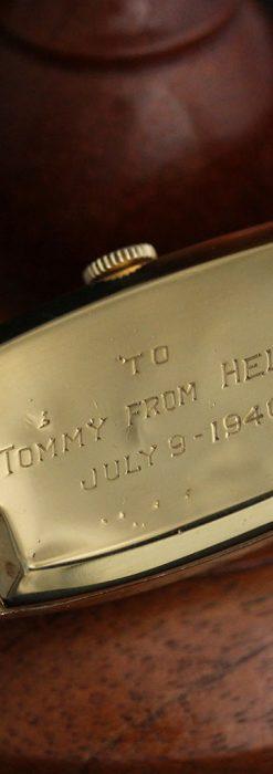 ロンジンのアンティーク腕時計【1939年製】ローズ色-W1465-14